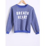 Stylish Round Neck Long Sleeve Letter Printed Fleece Women's Sweatshirt
