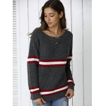 Striped Hit Color Pullover Sweater deal