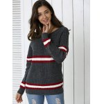 cheap Striped Hit Color Pullover Sweater
