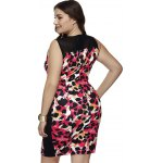 Plus Size Sleeveless Leopard Print Bodycon Dress for sale
