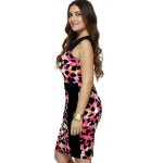 Plus Size Sleeveless Leopard Print Bodycon Dress deal