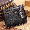 cheap Fashion Snap Closure and Animal Embossed Design Wallet For Men