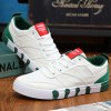 Buy Stylish Splicing Lace-Up Design Canvas Shoes Men 40