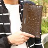cheap Fashion Metal and Crocodile Print Design Wallet For Men