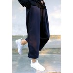 Cropped Wide Leg Wool Pants