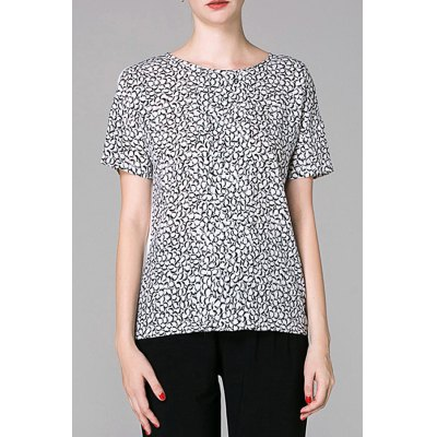Printed Spliced T-Shirt