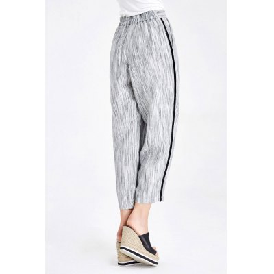 Empire Waisted Linen Ankle Pants