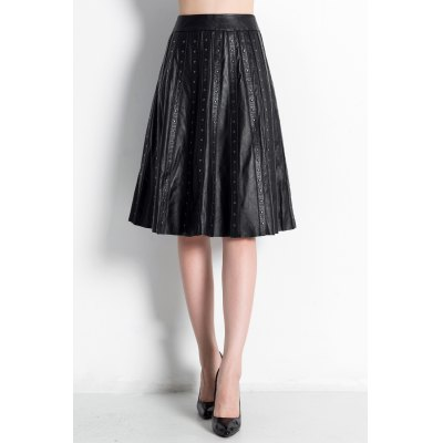 High Waisted Rivet Skirt