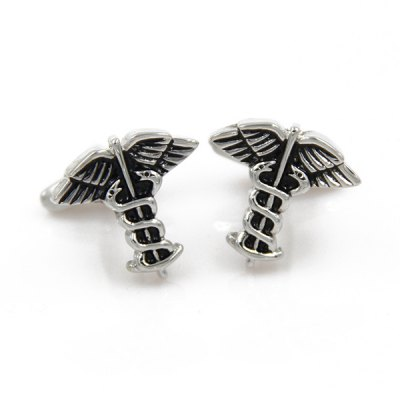 Moth Snake Shape Cufflinks