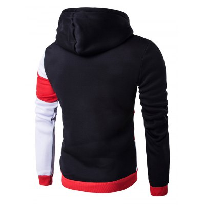 Color Blocks Spliced Long Sleeve Black Red HoodieMens Hoodies &amp; Sweatshirts<br>Color Blocks Spliced Long Sleeve Black Red Hoodie<br><br>Material: Cotton Blends<br>Package Contents: 1 x Hoodie<br>Shirt Length: Regular<br>Sleeve Length: Full<br>Style: Casual<br>Weight: 0.327kg