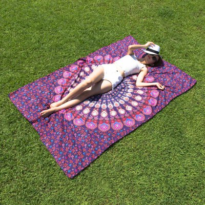 Seductive Mandala Yoga Mat Gypsy Cotton Tablecloth Beach Throw Shawl Wrap Scarf
