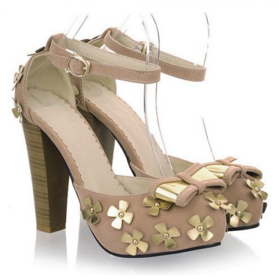 Sweet Floral and Bowknot Design Sandals For Women