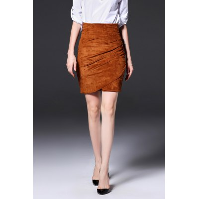 Mini Ruched Bodycon Skirt