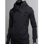 cheap Wide Lapel Collar Zippers Design Casual Hoodie