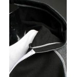 Patchwork Design Zipper Flying Casual Hoodie for sale