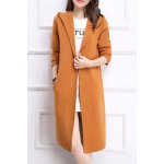 Hooded Long Cardigan
