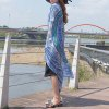Ethnic Style Rounded Totem Printed Quadrate Chiffon Sarong Long Scarf
