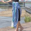 Ethnic Style Rounded Totem Printed Quadrate Chiffon Sarong Long Scarf deal