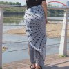 Ethnic Style Mandala Printed Quadrate Chiffon Sarong Long Scarf for sale