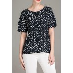Polka Dot Round Neck T-Shirt