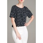 cheap Polka Dot Round Neck T-Shirt