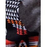 Patchwork Design Geometric Print Hoodie for sale