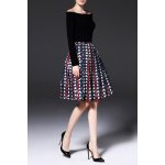 A Line Jacquard Pleated Skirt for sale
