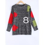 Trendy Color Block Spliced Loose-Fitting Women's Sweater