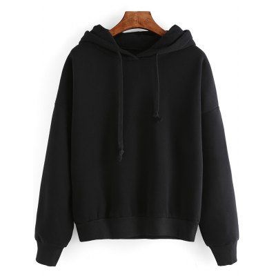 Pure Color Loose Fitting Hoodie