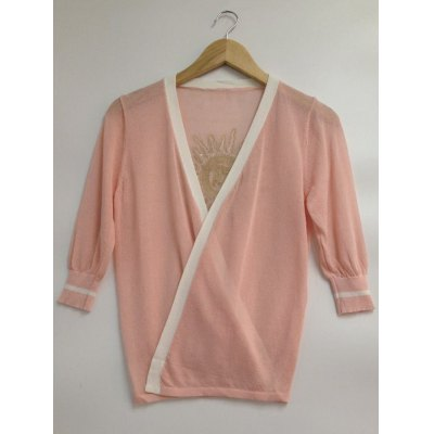 Sequin Sun Pattern Candy Color Cardigan