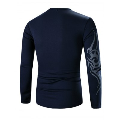 Round Neck Long Sleeves Tee