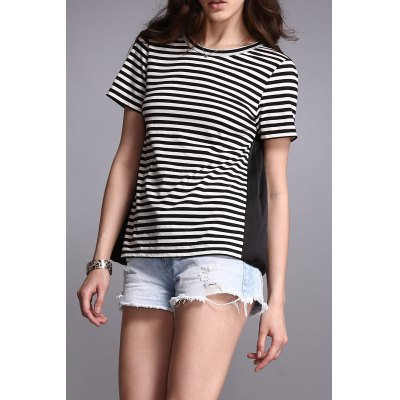 High Low Striped Top