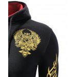 Hooded Golden Floral Print Long Sleeve Hoodie for sale