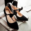 Buckle Bow Point Toe Pumps deal