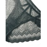 Alluring Openwork Solid Color Lace Panties deal