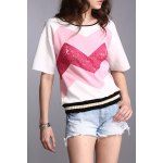 Lace Splicing T-Shirt