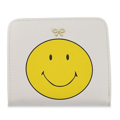 Bow Smile Face Small PurseCoin Purse &amp; Card Holder<br>Bow Smile Face Small Purse<br><br>Gender: For Women<br>Style: Casual<br>Closure Type: No Zipper<br>Pattern Type: Character<br>Main Material: PU<br>Length: 11CM<br>Width: 1.5CM<br>Height: 9.5CM<br>Weight: 0.100kg<br>Package Contents: 1 x Coin Purse