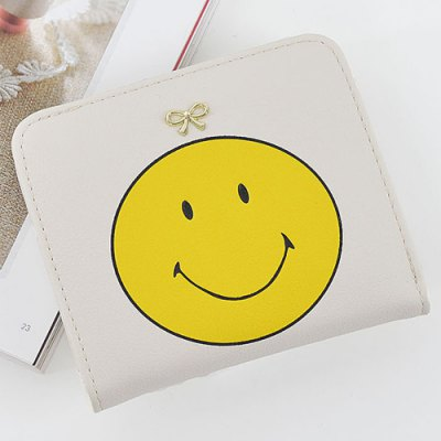 Bow Smile Face Small Purse
