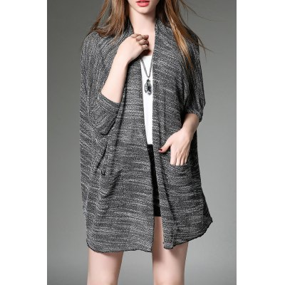 Knitted Batwing Sleeve Cardigan