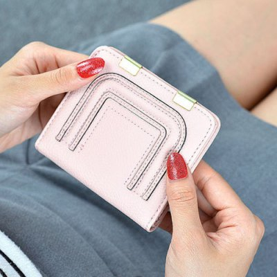 Metal Snap Closure Stitching Coin PurseCoin Purse &amp; Card Holder<br>Metal Snap Closure Stitching Coin Purse<br><br>Gender: For Women<br>Style: Casual<br>Closure Type: No Zipper<br>Pattern Type: Solid<br>Main Material: PU<br>Length: 11CM<br>Width: 1.5CM<br>Height: 9.5CM<br>Weight: 0.098kg<br>Package Contents: 1 x Coin Purse