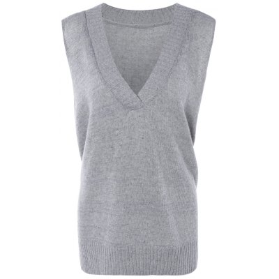 Ribbed Solid Color Knitted Tank Top