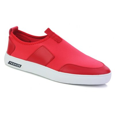 PU Splice Slip-On Casual Shoes