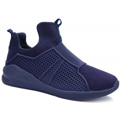 Splicing Suede Slip-On Athletic Shoes