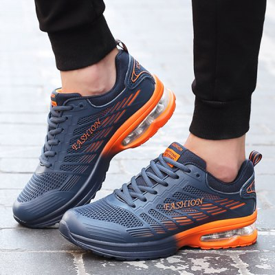 Lace-Up Mesh Air Cushion Athletic Shoes