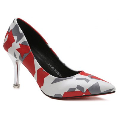 Geometric Print Pumps