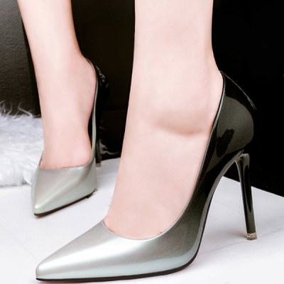 Stiletto Heel Pointed Toe Gradient Color Pumps