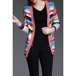 Buttoned Colorful Striped Cardigan deal