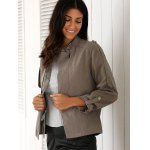 best Stylish Stand Neck Long Sleeve Gray Women's Trench Coat