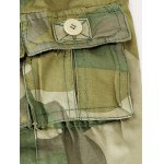 Camouflage Zipper Fly Straight Leg Multi-Pockets Embellished Pants for sale
