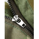 Camouflage Zipper Fly Straight Leg Multi-Pockets Embellished Pants deal